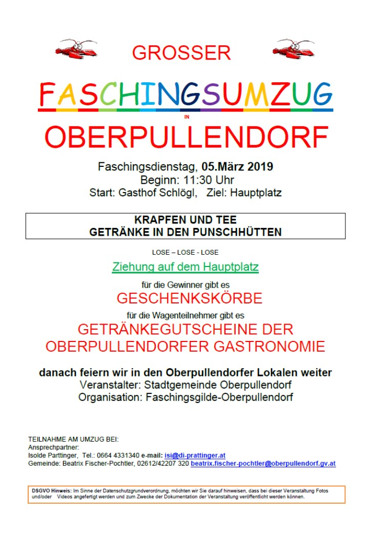 Faschingdienstag 2019
